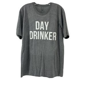 Day Drinker Graphic T-Shirt Gray Large